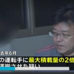 田嶋晶浩容疑者の逮捕と顔画像は!会社の不正改造ダンプ全て2倍の過積載