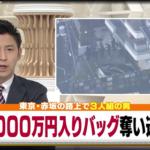赤坂・8000万円強奪事件の犯人3人組は?内部関係者か!?